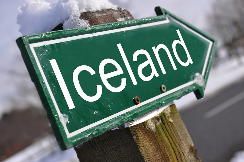 ICELAND road sign