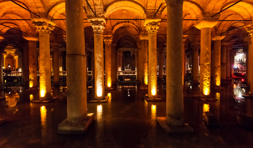 ISTANBUL MAY 25 The Basilica Cistern on may 25 2013 in Istanbul Turkey