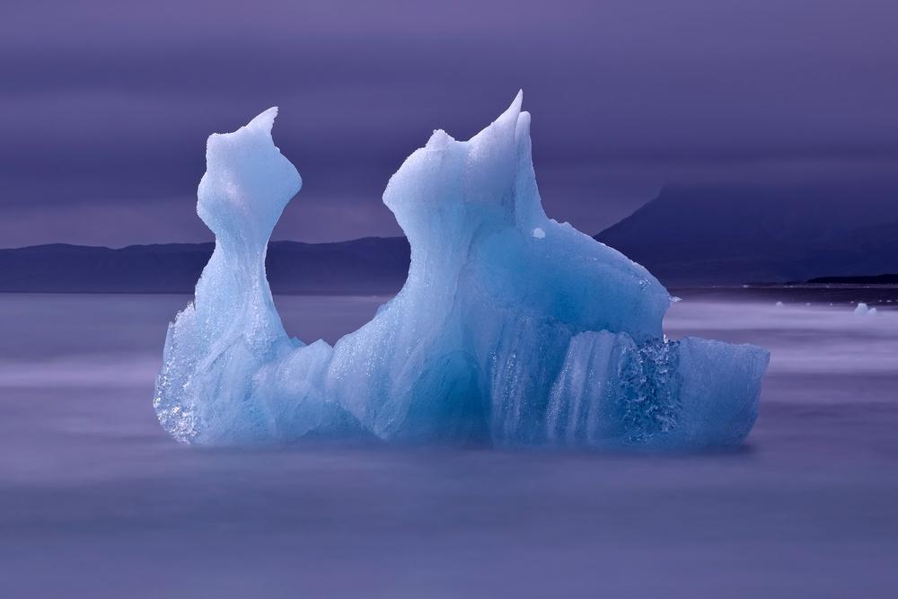 Iceberg from the famous Jokulsarlon JÃ¶kulsÃÂ� �rlÃ³n glacier lake in Iceland Island icebergs originate from the Vatnajokull float