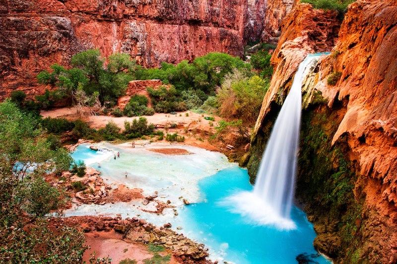 Il Canyon delle Havasu Falls Riserva indiana Havasupai Arizona