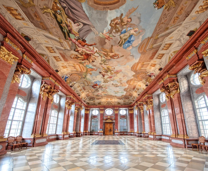 Interior of a baroque palace in Vienna Austria