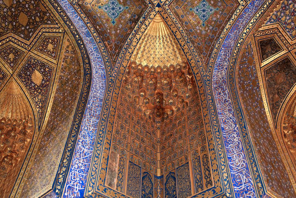 It is aksaray mausoleum in Samarkand Uzbekistan