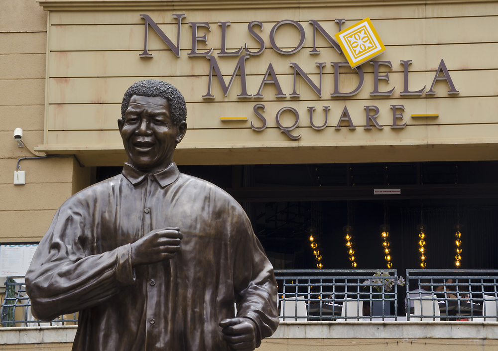 JOHANNESBURG MARCH 10 Bronze statue of Nelson Mandela on March 10 2013 in Johannesburg