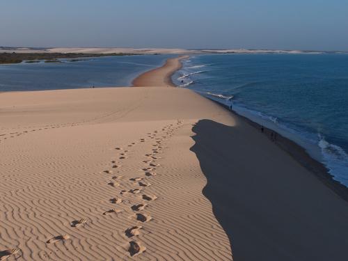 Jericoacoara Beach seen from the dune top