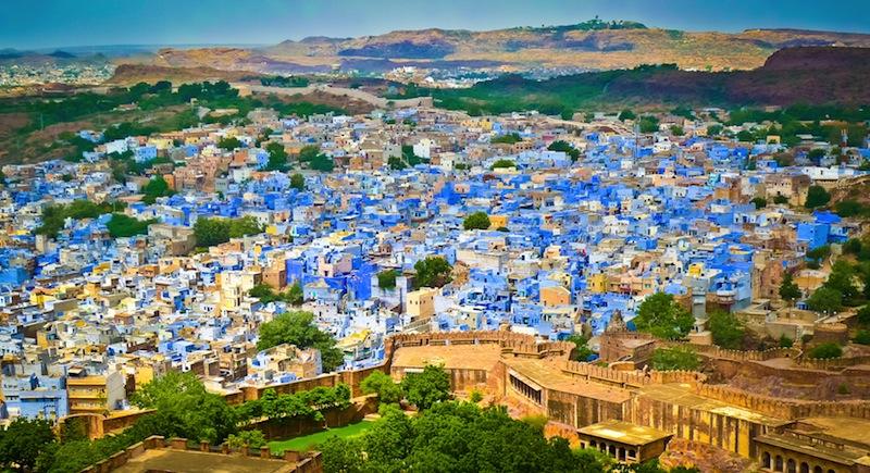 Jodhpur the Blue City from Mehrangarh Fort Rajasthan India