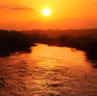 Jordan river sunset