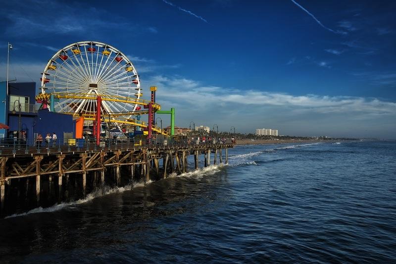 LOS ANGELES USA SEPTEMBER 22 Santa Monica Pier o