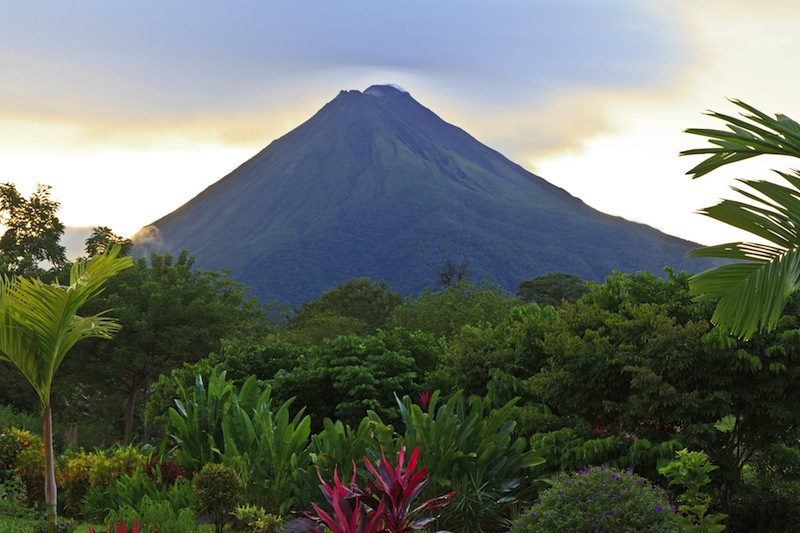 La Fortuna Costa Rica with Arenal Volcano in the background