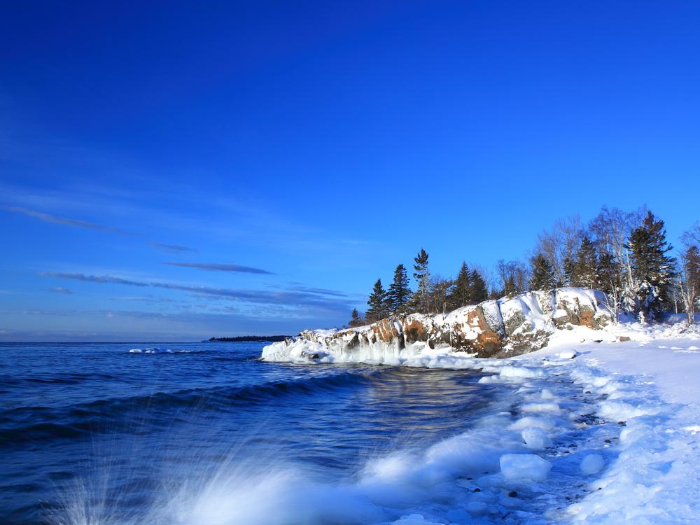 Lake Superior north shore in Minnesota