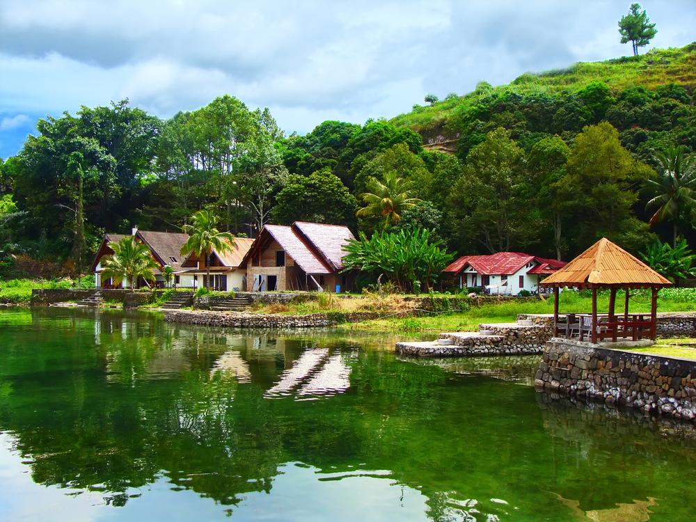 Lake Toba is a lake and volcano