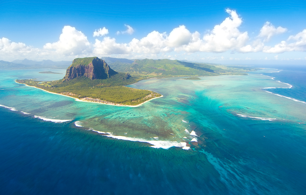 Le Morne Brabant mountain which is in the World Heritage site of the UNESCO