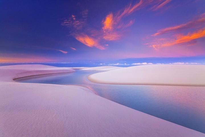 Lencois Maranhenses Sunrise Walk Clouds MAG1