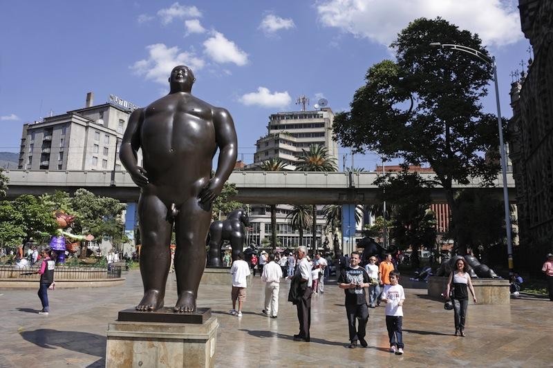 MEDELLIN COLOMBIA JAN 2 Botero square