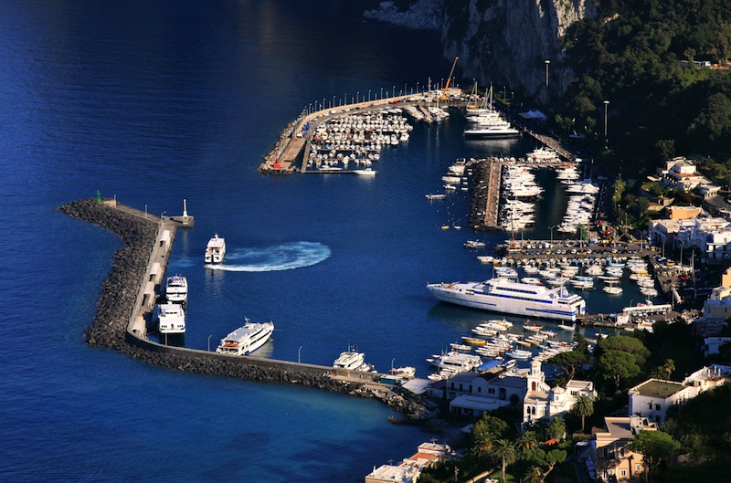 Main harbor of Capri Italy