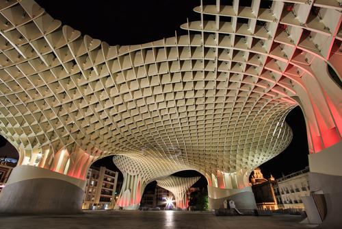 Metropol Parasol in Plaza de la Encarnacion on November 19 2012 in Seville Spain