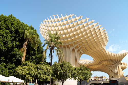 Metropol Parasol on August 12 2011 in Seville Spain
