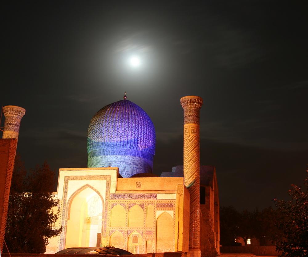 Mosque in moonlight