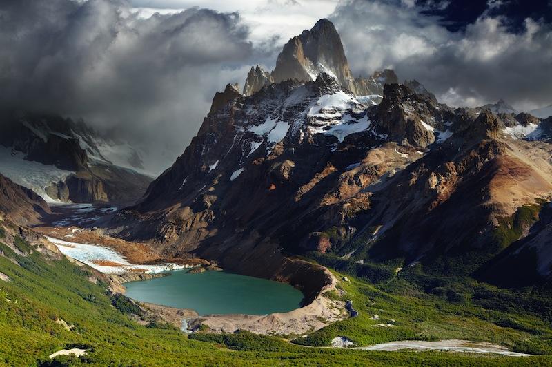 Mount Fitz Roy and laguna Torre Los Glaciares National Park Patagonia Argentina