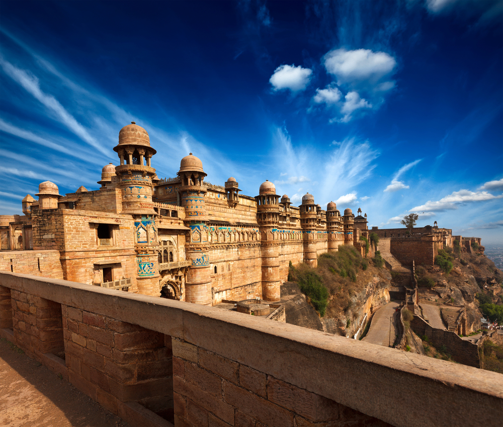 Mughal architecture Gwalior fort entrance towers