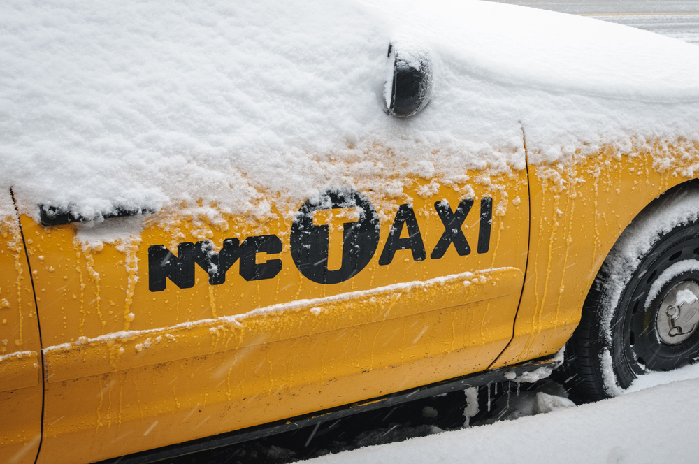 NEW YORK JANUARY 6 NYC Taxi on January 6 2013 in New York