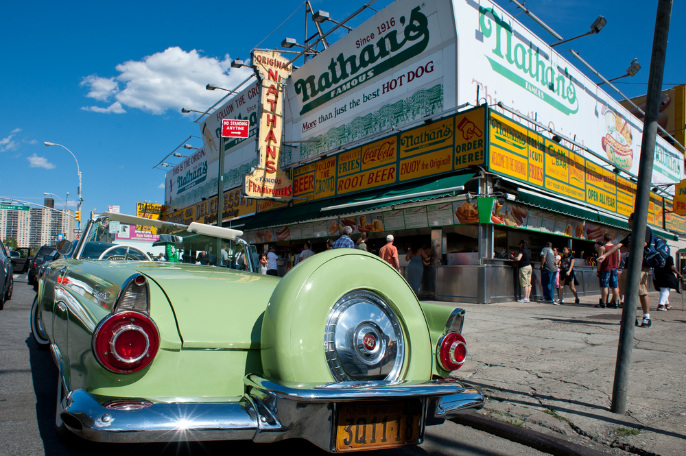 NEW YORK JUNE 27 The Nathans shop on June 27 2012 in Coney Island New York