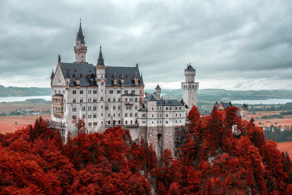 Neuschwanstein castle Fussen Bavaria Germany