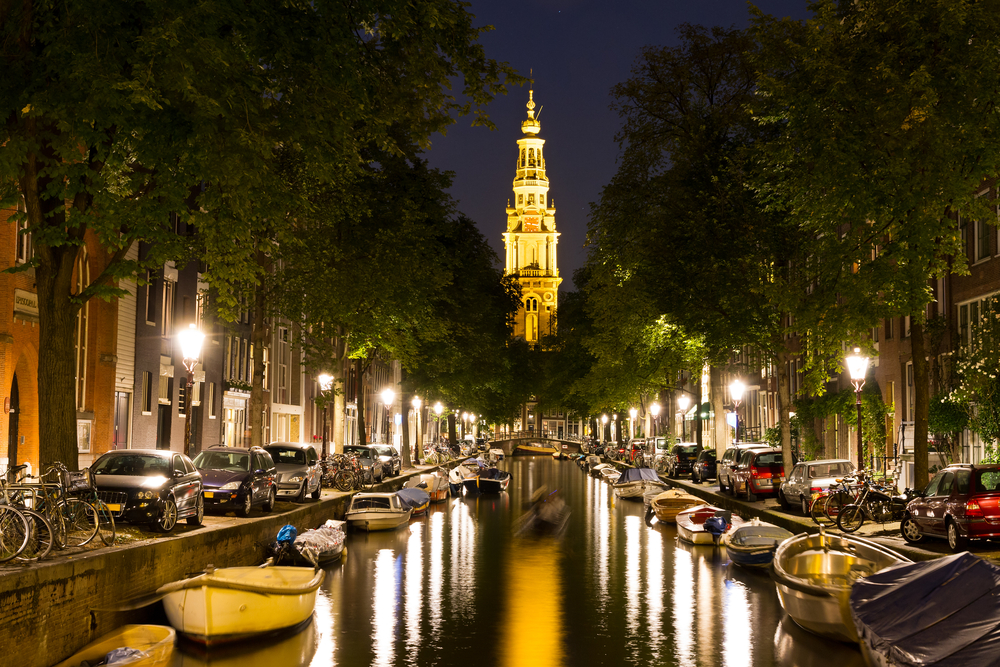 Night time Amsterdam the Netherlands