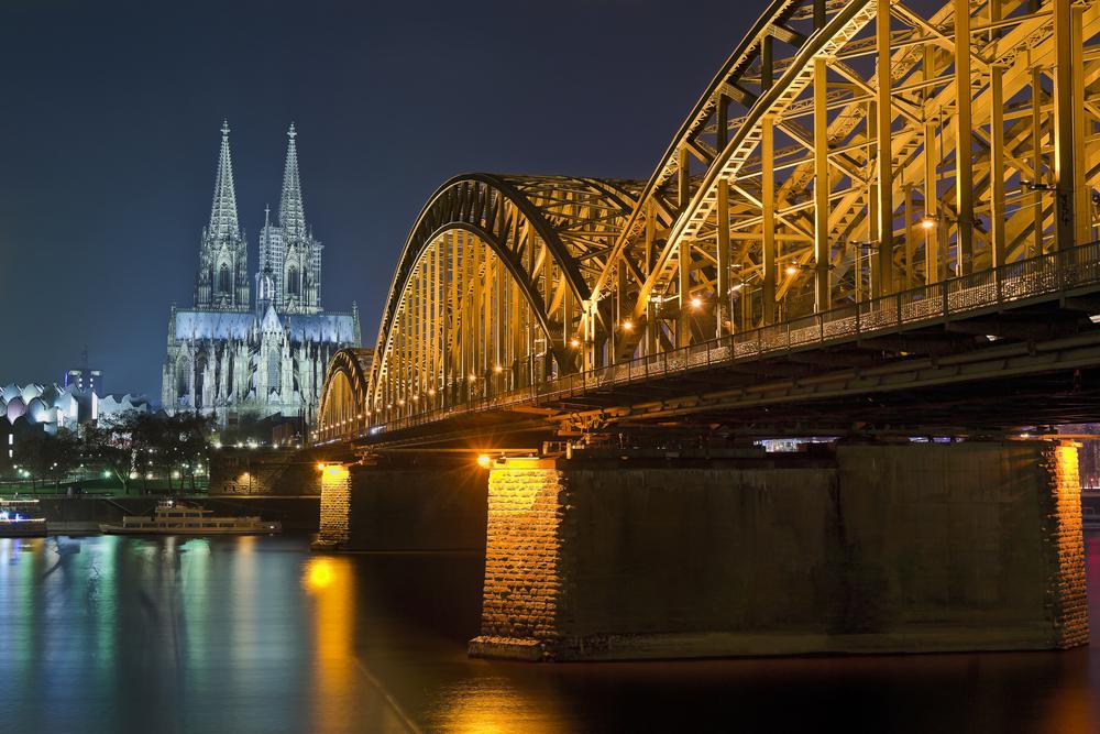 Old Bridge in Koln city Germany