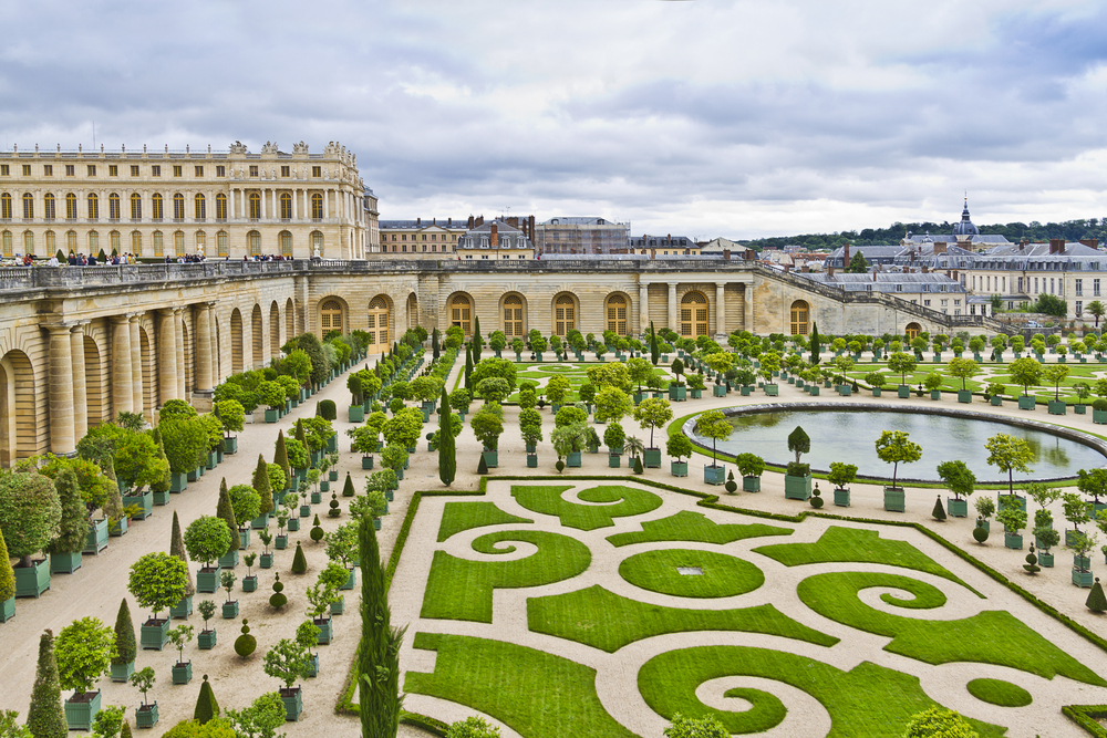 Orangery was designed by Louis Le Vau it is located south of the Palace Versailles Paris France