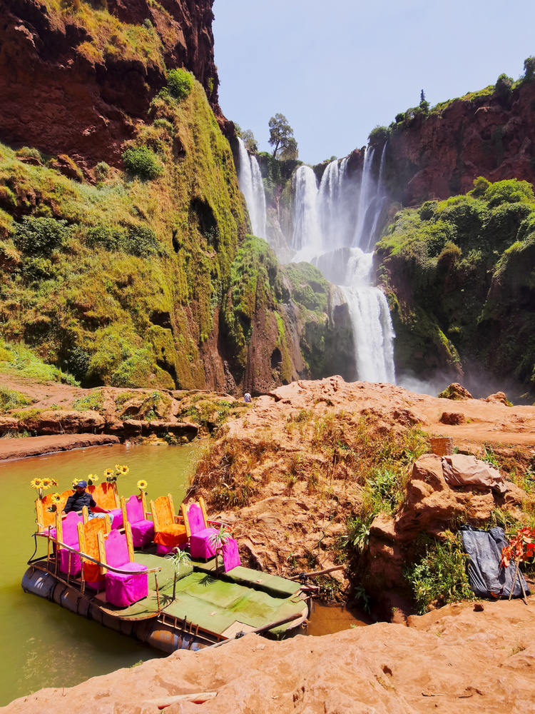 Ouzoud Waterfall on May 06 2013 in Tanaghmeilt Morocco