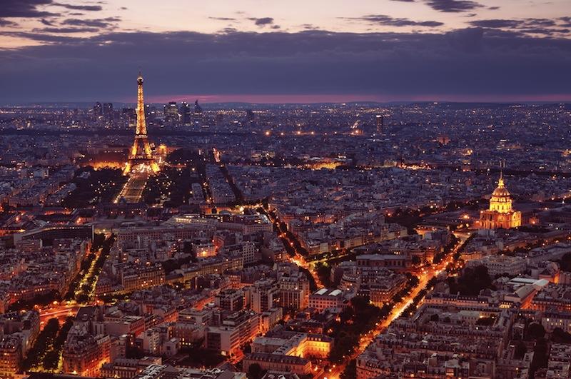 Champs Elysees e Arco di Trionfo