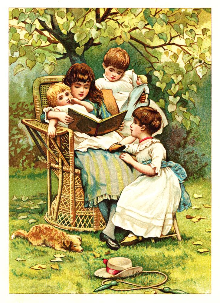 POLAND CIRCA 1889 Illustration taken from an original book Moja Ksiazeczka written by Marye Konopnicka