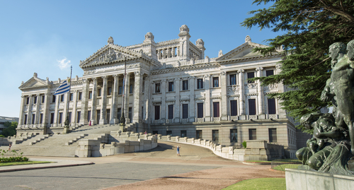 Palacio Legislativo in Montevideo Uruguay