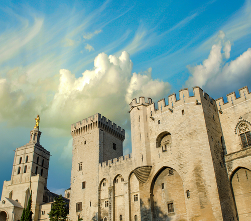 Palais des Papes Palace of the Popes in Avignon France