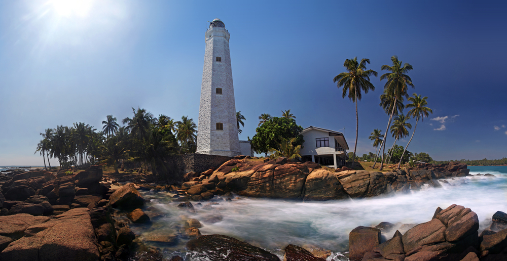 Panorama of Dondra Lighthouse Matara Ceylon Sri Lanka