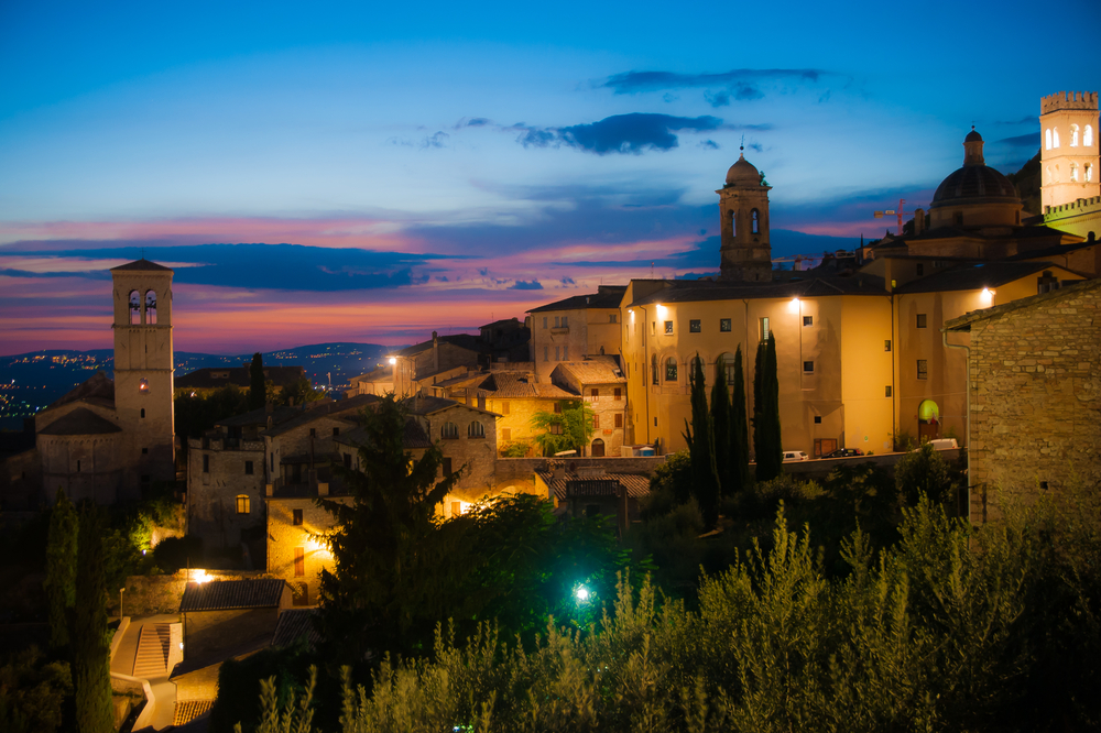 Peaceful Twilight descends over Assisi