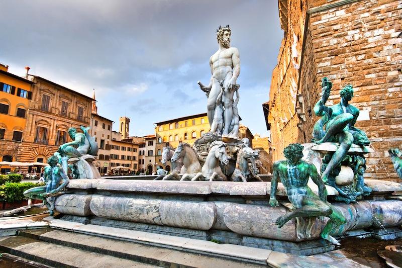 Piazza della Signoria in Florence Italy