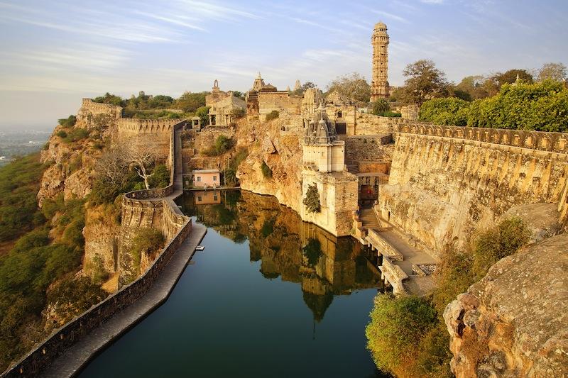 Picturesque panorama of Cittorgarh Fort India jpg