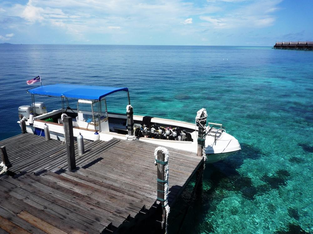 Pier in Kapalai island Sabah Malaysia