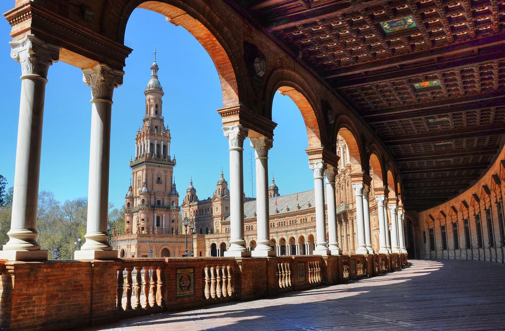 Plaza España in Seville Andalusia Spain