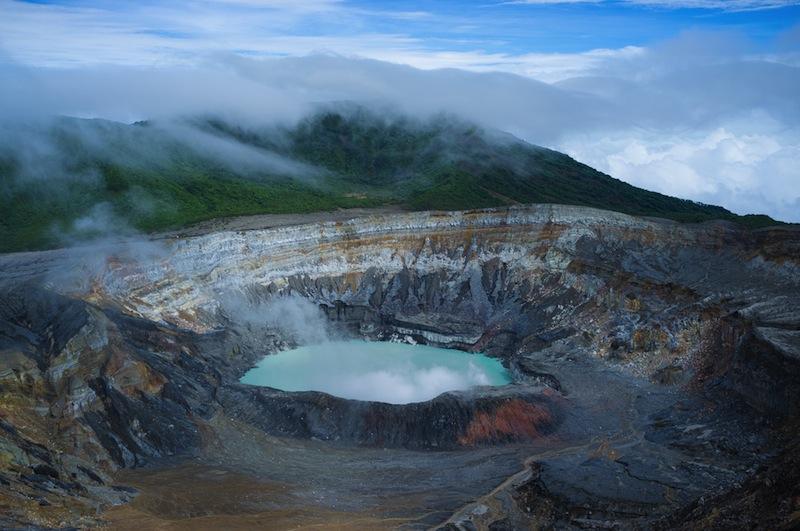 Poas volcano lagoon Costa Rica