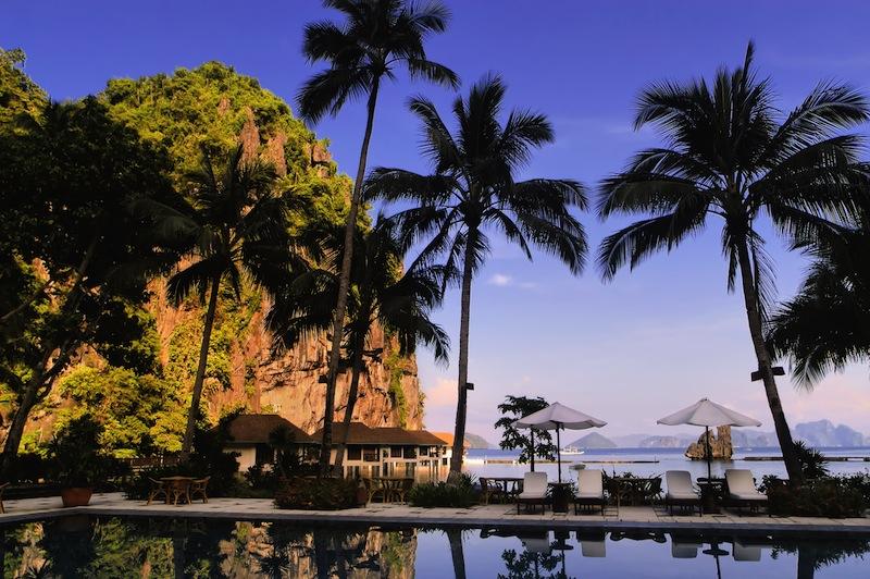 Pool in El Nido Resorts in Palawan Philippines