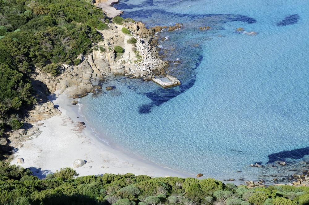 Porto Giunco beach Villasimius Cagliari Sardinia Italy Spiaggia di Porto Giunco a Villasimius