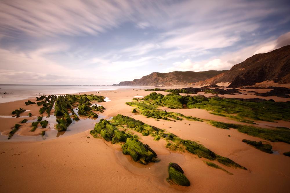 Portuguese Algarve coast the south of the country Vila do Bispo Praia do CastelejoCordoama