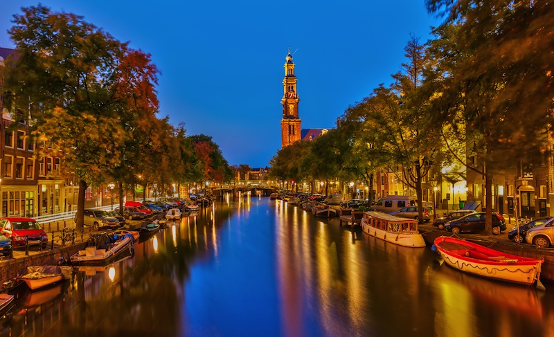 Prinsengracht canal in Amsterdam