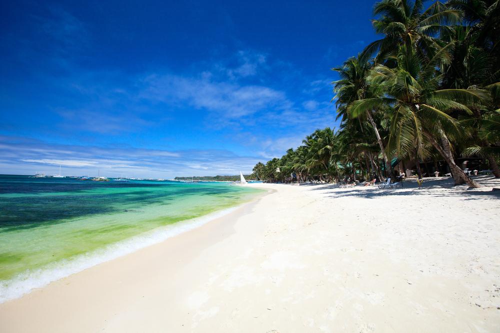 Puka shell beach at Southern part of Boracay island Philippines 9