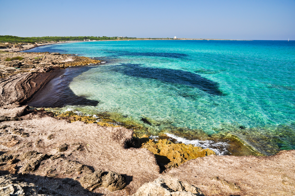 Punta della Suina beach in Salento Apulia