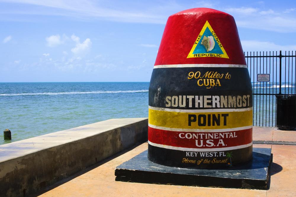 Punto più meridionale degli Stati Uniti continentali in Key West Florida