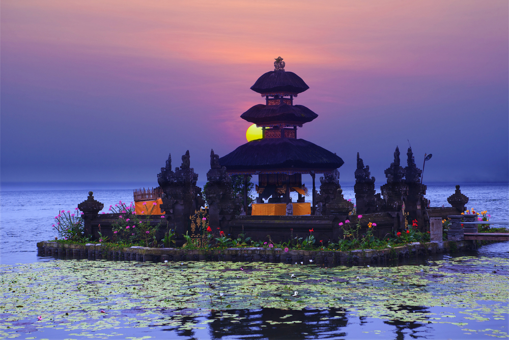 Pura Ulun Danu Bratan temple on Bali Indonesia