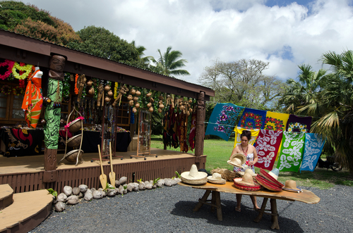 RAROTONGA SEP 21 Cook Islander shopkeeper of souvenir shop on Sep 21 2013